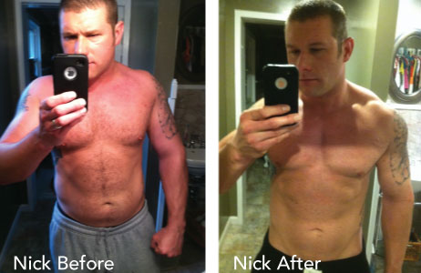 HCG Results Nick Before & After Photos