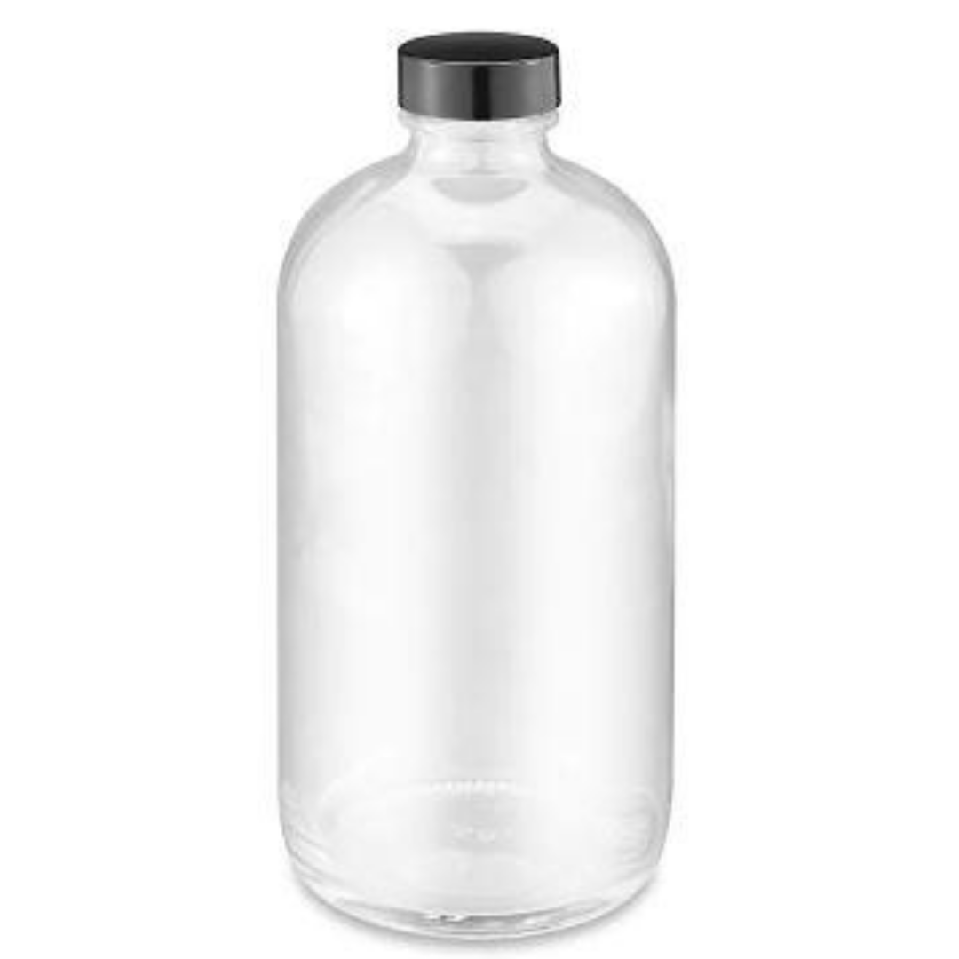 Clear Glass Bottle for mixing HCG