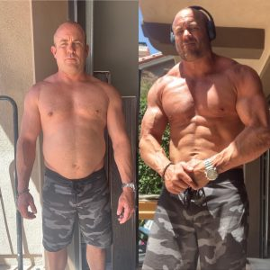 Jeff S. CA - before and after 32lbs in 28-days