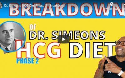 Dr. Simeons HCG Diet Phase 2 – Breakdown
