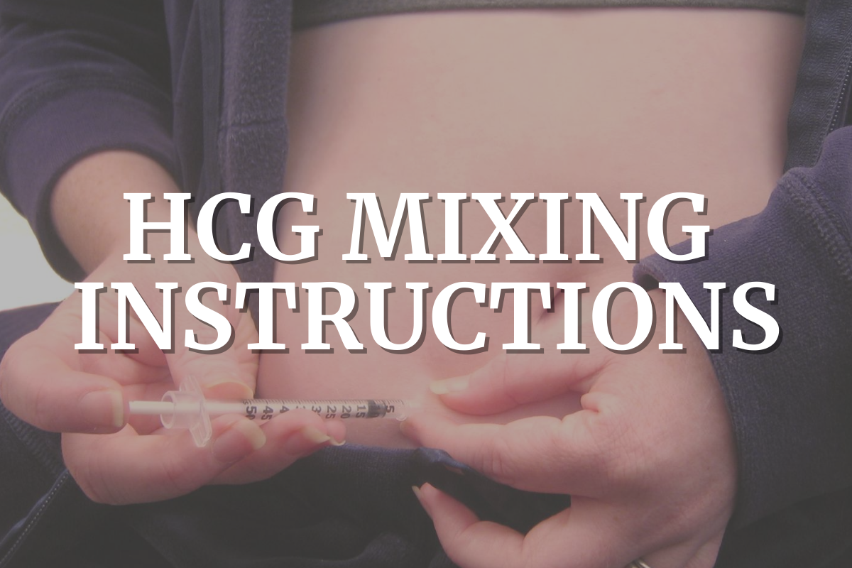 hcg mixing instructions